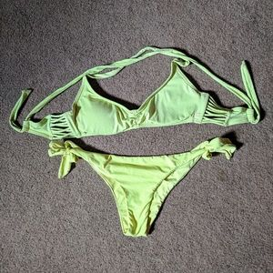 Neon yellow bikini
